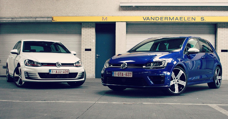 duotest golf 7 gti performance vs vw golf 7 r hot hatch. Black Bedroom Furniture Sets. Home Design Ideas